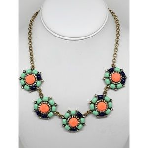 J. Crew Colorful Flower Clusters Necklace